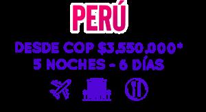 Perú Viajar con promociones
